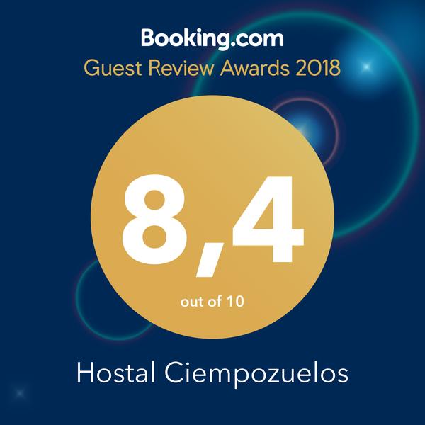 Excelencia premio booking hostal ciempozuelos